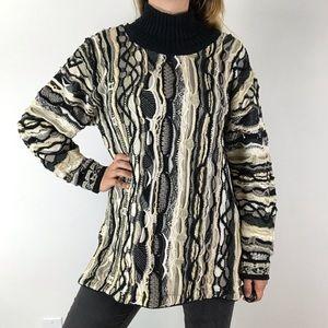 COOGI Vintage 90's Turtleneck Pullover Sweater S